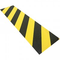 "Black/Yellow Anti-Slip Treads, 6 x 24"""