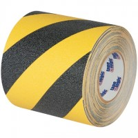 "Black/Yellow Heavy Duty Striped Anti-Slip Tape, 6"" x 60'"