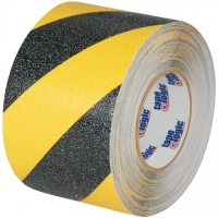 "Black/Yellow Heavy Duty Striped Anti-Slip Tape, 4"" x 60'"