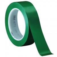 "3M 471 Green Vinyl Tape, 1"" x 36 yds., 5.2 Mil Thick"