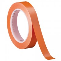 "3M 471 Orange Vinyl Tape, 1/2"" x 36 yds., 5.2 Mil Thick"