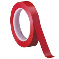 "3M 471 Red Vinyl Tape, 1/2"" x 36 yds., 5.2 Mil Thick"