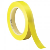 "3M 471 Yellow Vinyl Tape, 1/2"" x 36 yds., 5.2 Mil Thick"