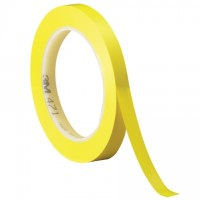 "3M 471 Yellow Vinyl Tape, 1/4"" x 36 yds., 5.2 Mil Thick"