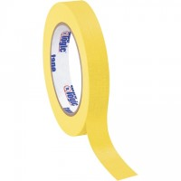"Yellow Masking Tape, 3/4"" x 60 yds., 4.9 Mil Thick"