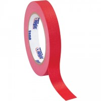 "Red Masking Tape, 3/4"" x 60 yds., 4.9 Mil Thick"