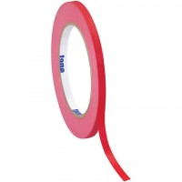 "Red Masking Tape, 1/4"" x 60 yds., 4.9 Mil Thick"