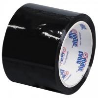 "Black Carton Sealing Tape, 3"" x 55 yds., 2.2 Mil Thick"