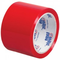 "Red Carton Sealing Tape, 3"" x 55 yds., 2.2 Mil Thick"