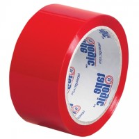 "Red Carton Sealing Tape, 2"" x 55 yds., 2.2 Mil Thick"