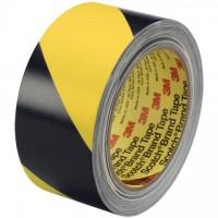 "3M 5702 Black/Yellow Striped Vinyl Tape, 3"" x 36 yds., 5.4 Mil Thick"