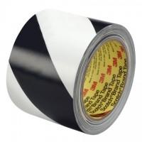 "3M 5700 Black/White Striped Vinyl Tape, 3"" x 36 yds., 5.4 Mil Thick"