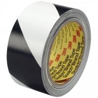 "3M 5700 Black/White Striped Vinyl Tape, 2"" x 36 yds., 5.4 Mil Thick"