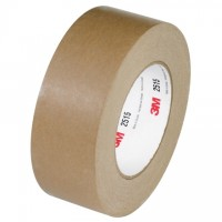 "3M 2515 Kraft Flatback Masking Tape, 2"" x 60 yds., 6.7 Mil Thick"
