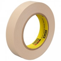 "3M 250 Crepe Flatback Masking Tape, 1"" x 60 yds., 5.9 Mil Thick"