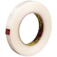 "3M 865 Clear Strapping Tape, 3/4"" x 60 yds., 6.4 Mil Thick"