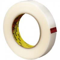 "3M 864 Clear Strapping Tape, 1"" x 60 yds., 5.6 Mil Thick"