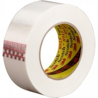 "3M 8915 Clear Strapping Tape, 1"" x 60 yds., 6.0 Mil Thick"