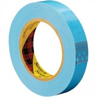 "3M 8896 Blue Strapping Tape, 1"" x 60 yds., 4.6 Mil Thick"