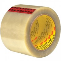 "3M 351 Tape, Clear, 3"" x 55 yds., 3.4 Mil Thick"