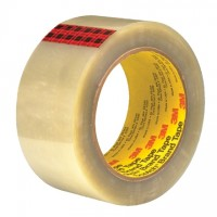 "3M 351 Tape, Clear, 2"" x 55 yds., 3.4 Mil Thick"