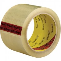 "3M 3743 Tape, Clear, 3"" x 55 yds., 2.6 Mil Thick"