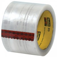 "3M 373 Tape, Clear, 3"" x 110 yds., 2.5 Mil Thick"