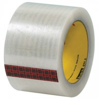"3M 371 Tape, Clear, 3"" x 110 yds., 1.9 Mil Thick"