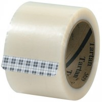 "3M 369 Tape, Clear, 3"" x 110 yds., 1.6 Mil Thick"