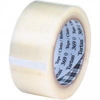 "3M 369 Tape, Clear, 2"" x 55 yds., 1.6 Mil Thick"