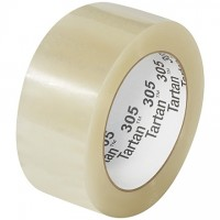 "3M 305 Tape, Clear, 2"" x 110 yds., 1.8 Mil Thick"