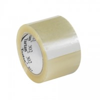 "3M 302 Tape, Clear, 3"" x 110 yds., 1.6 Mil Thick"