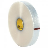 """Clear Machine Carton Sealing Tape, 3M 375, 2"""" x 1000 yds., 3.1 Mil Thick"""
