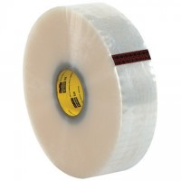 """Clear Machine Carton Sealing Tape, 3M 373, 3"""" x 1000 yds., 2.5 Mil Thick"""