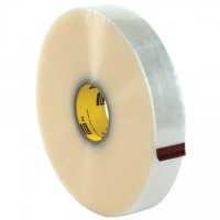 """Clear Machine Carton Sealing Tape, 3M 373, 2"""" x 1000 yds., 2.5 Mil Thick"""