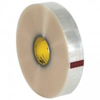 """Clear Machine Carton Sealing Tape, 3M 372, 2"""" x 1000 yds., 2.2 Mil Thick"""