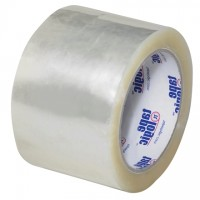 "Clear Carton Sealing Tape, Economy, 3"" x 55 yds., 3 Mil Thick"