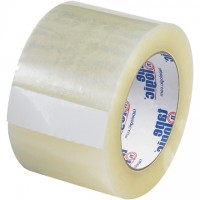"Clear Carton Sealing Tape, Quiet, 3"" x 55 yds., 2.6 Mil Thick"