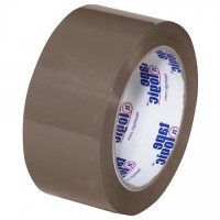 "Tan Carton Sealing Tape, Economy, 2"" x 110 yds., 1.6 Mil Thick"