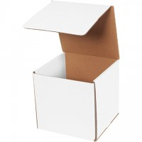 Indestructo Mailers, White, 7 x 7 x 7""