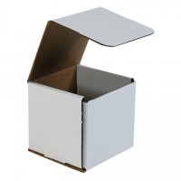 Indestructo Mailers, White, 5 x 5 x 5""