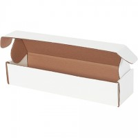 Literature Mailers, Tab Locking, White, 14 x 3 3/4 x 2 3/4""