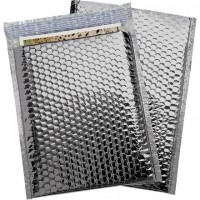 Glamour Bubble Mailers, Silver, 9 x 11 1/2""