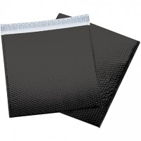 Glamour Bubble Mailers, Black, 16 x 17 1/2""