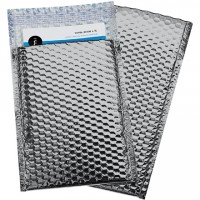 Glamour Bubble Mailers, Silver, 7 1/2 x 11""