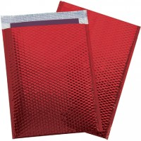 Glamour Bubble Mailers, Red, 13 x 17 1/2""