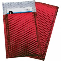 Glamour Bubble Mailers, Red, 7 1/2 x 11""