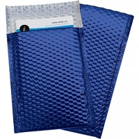 Glamour Bubble Mailers, Blue, 7 1/2 x 11""