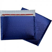 Glamour Bubble Mailers, Blue, 13 3/4 x 11""
