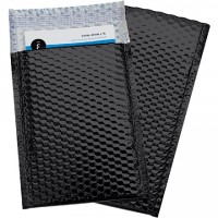 Glamour Bubble Mailers, Black, 7 1/2 x 11""